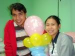 with our jackets, parang kami ang na-admit sa hospital