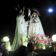 Salubong Jesus and Mama Mary