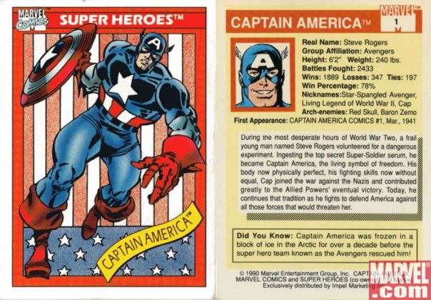 Trading Card Captain America